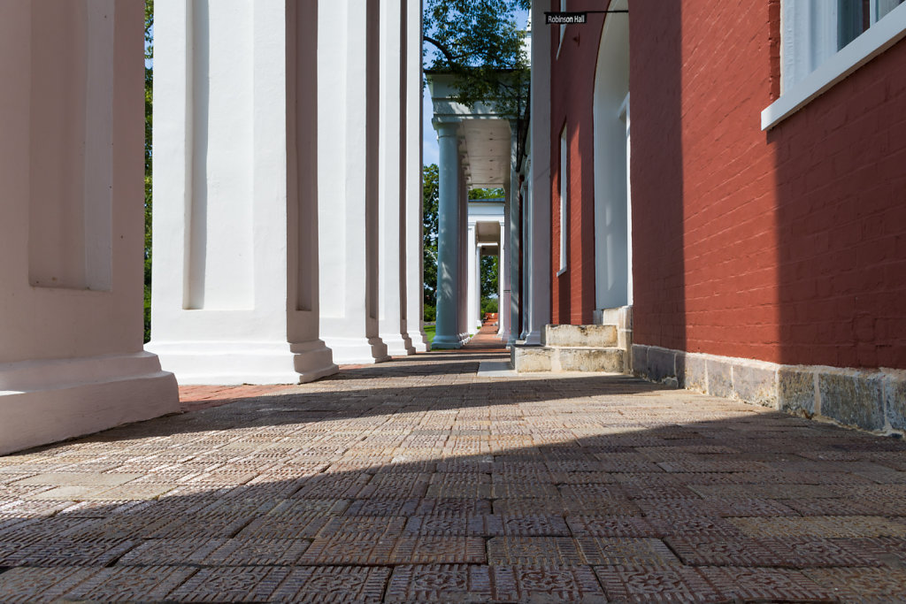 Down the Colonnade