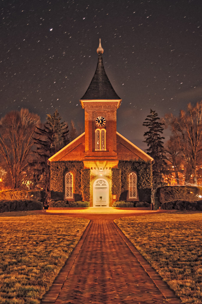 Lee Chapel by Night