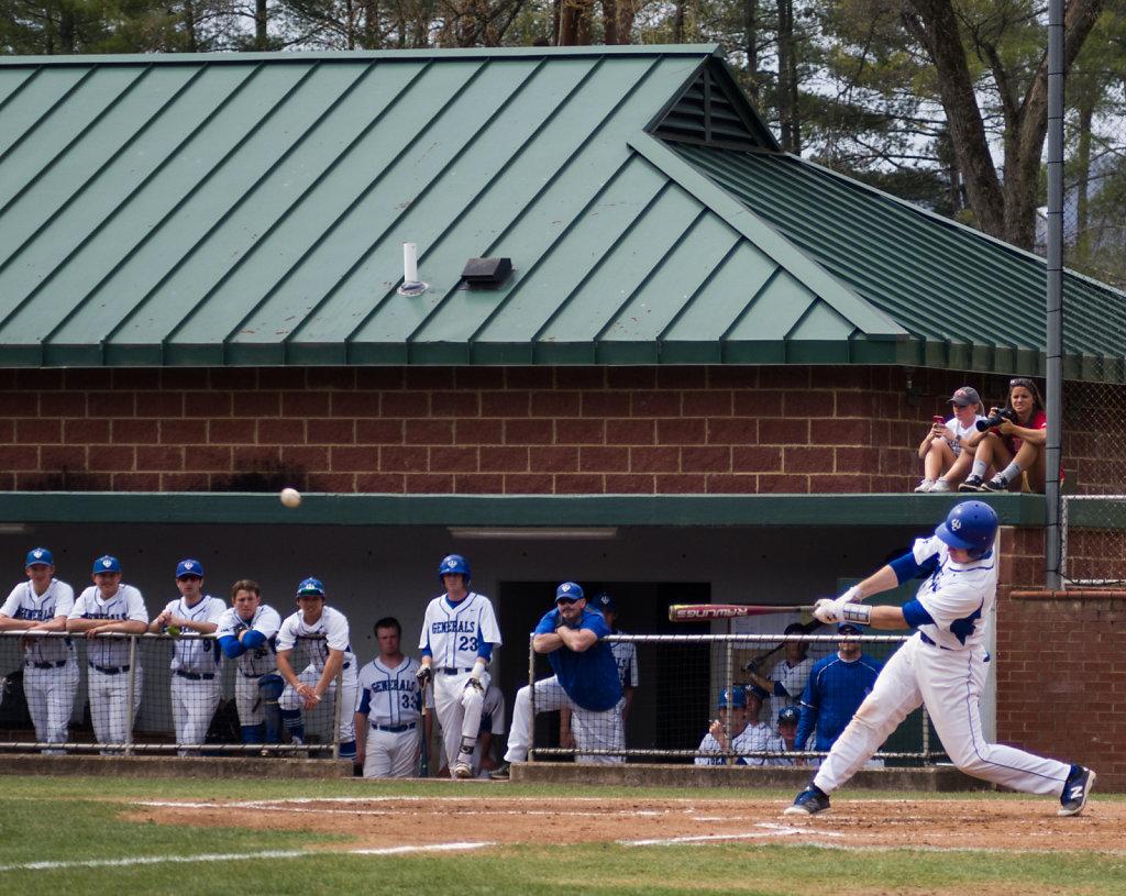 Cory Paton at bat