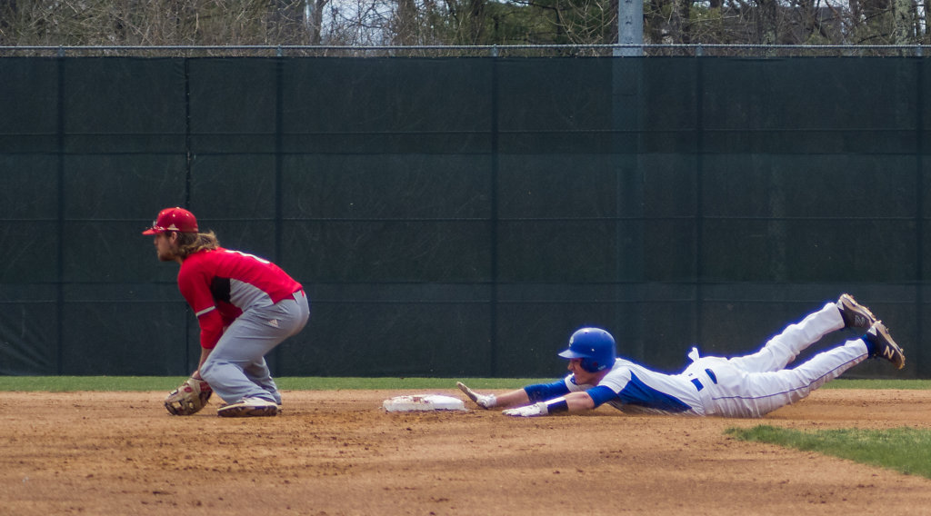 Cory Paton slides into second