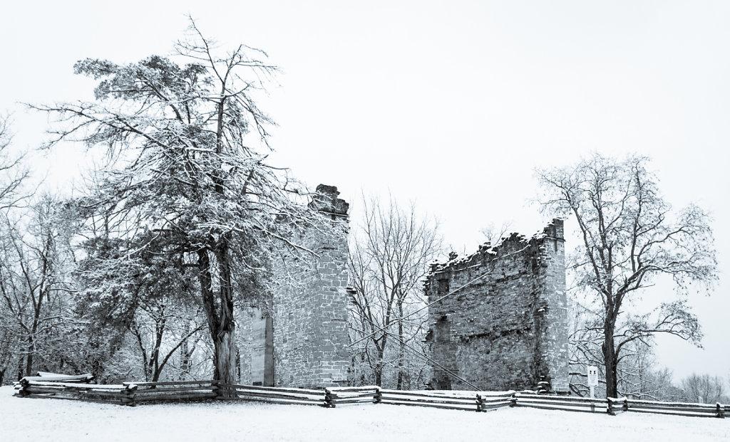 Liberty Hall Ruins with Snow #1