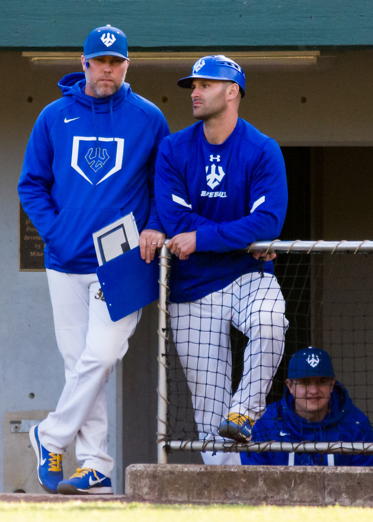 Coaches Ted White and Brandon Cohen